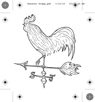 Rooster Stamp